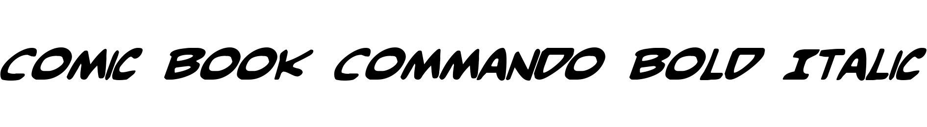 Comic Book Commando Bold Italic