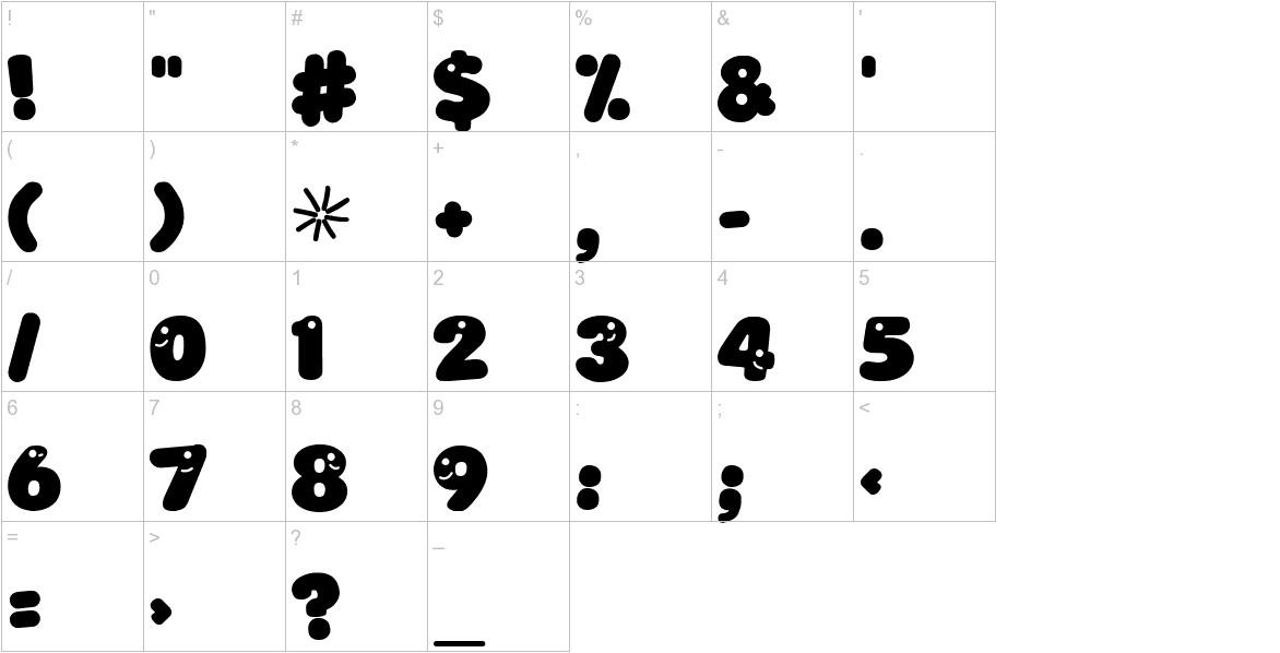 LoKinderSchrift Dunkel characters