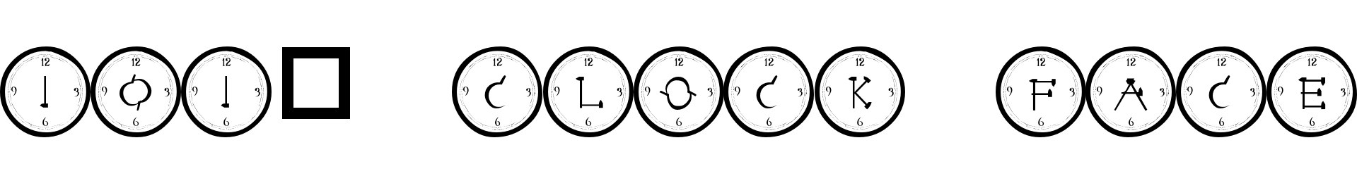 101! Clock Face