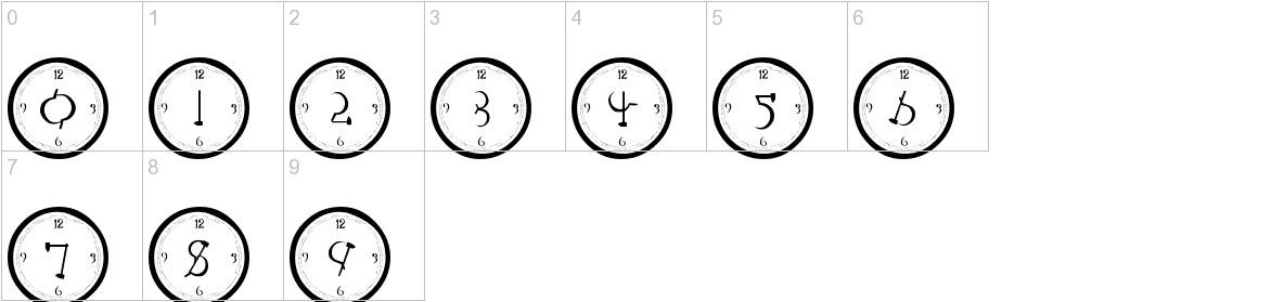 101! Clock Face characters