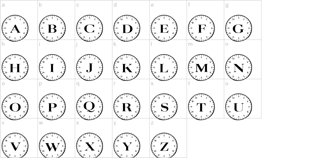 101! Compass lowercase