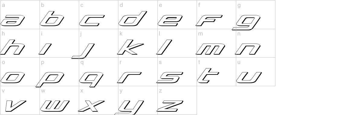 Concielian 3D lowercase