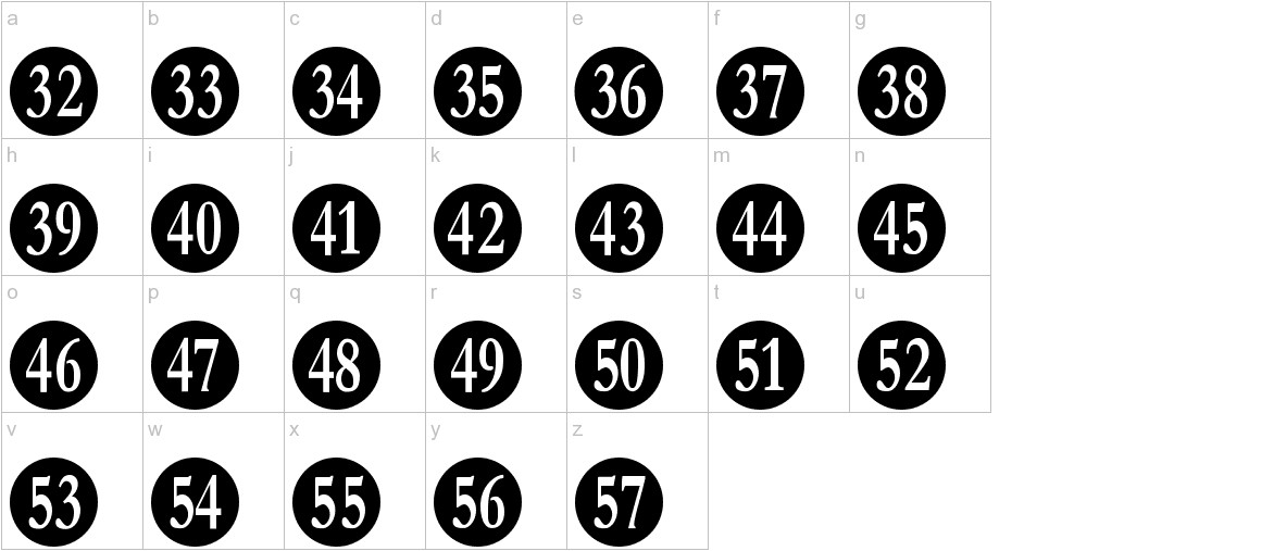 Numberpile lowercase