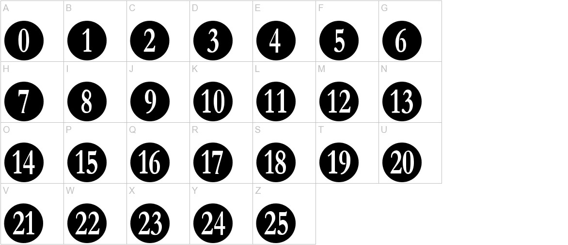 Numberpile uppercase