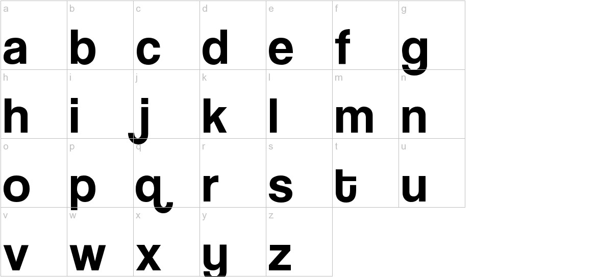 Coolvetica lowercase