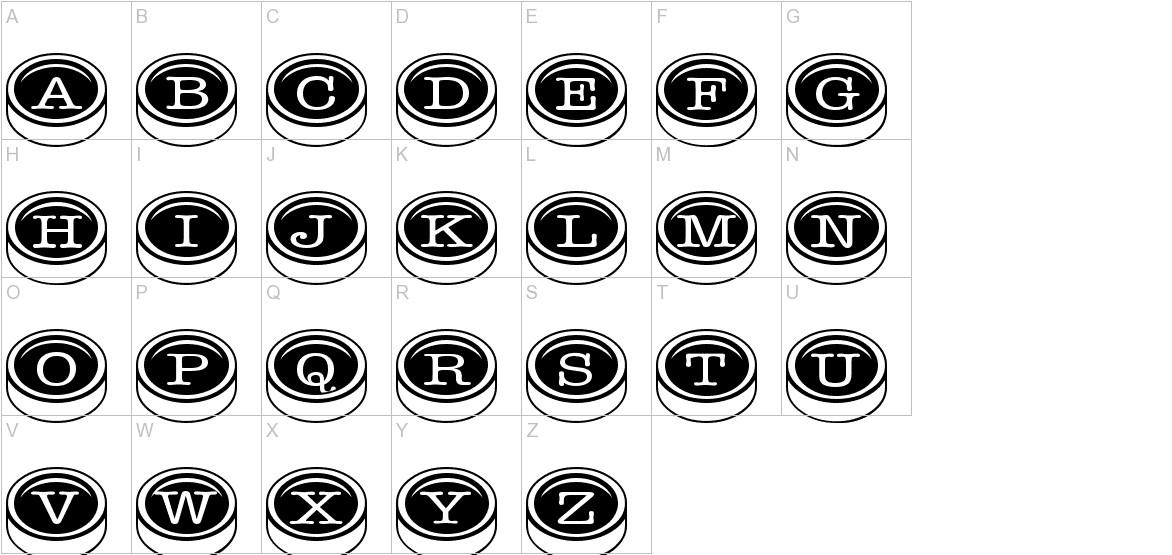 typewriter_keys uppercase