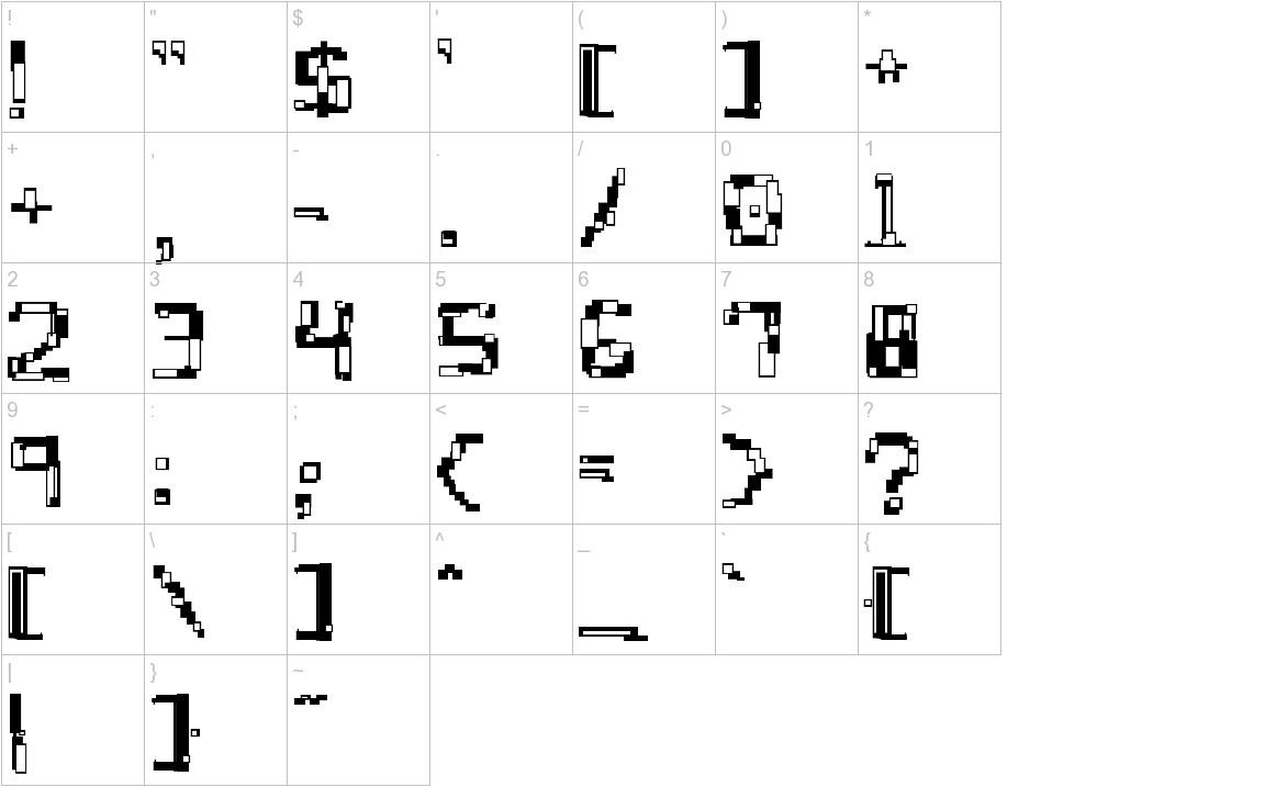 Hydrogen Score characters