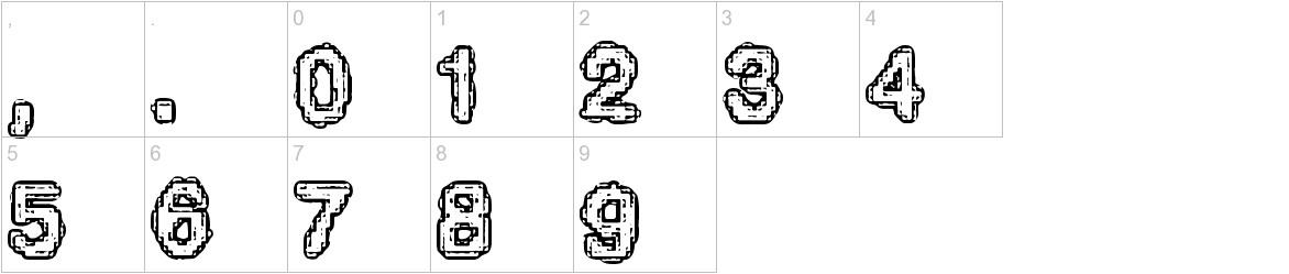 Pixel Krud (BRK) characters