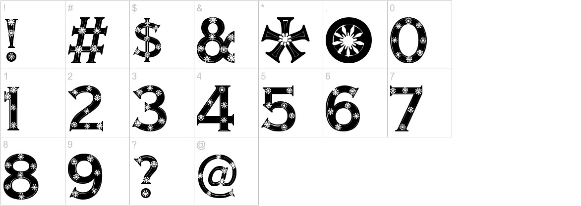 Snowflake Letters characters