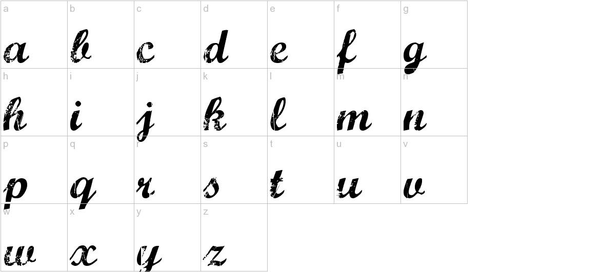 Marcelle Script lowercase
