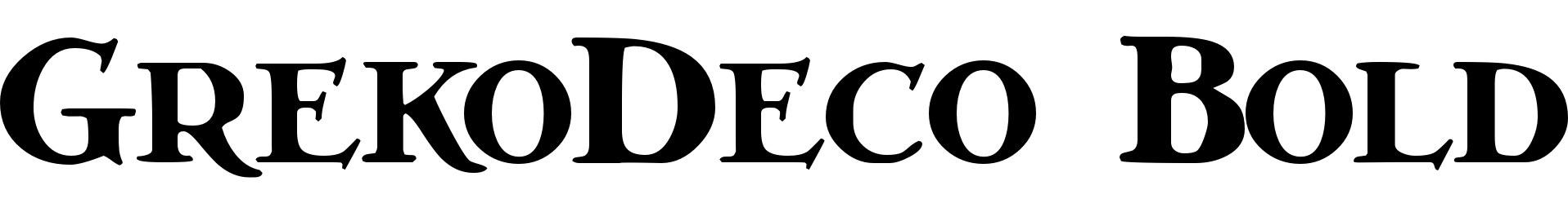 GrekoDeco Bold