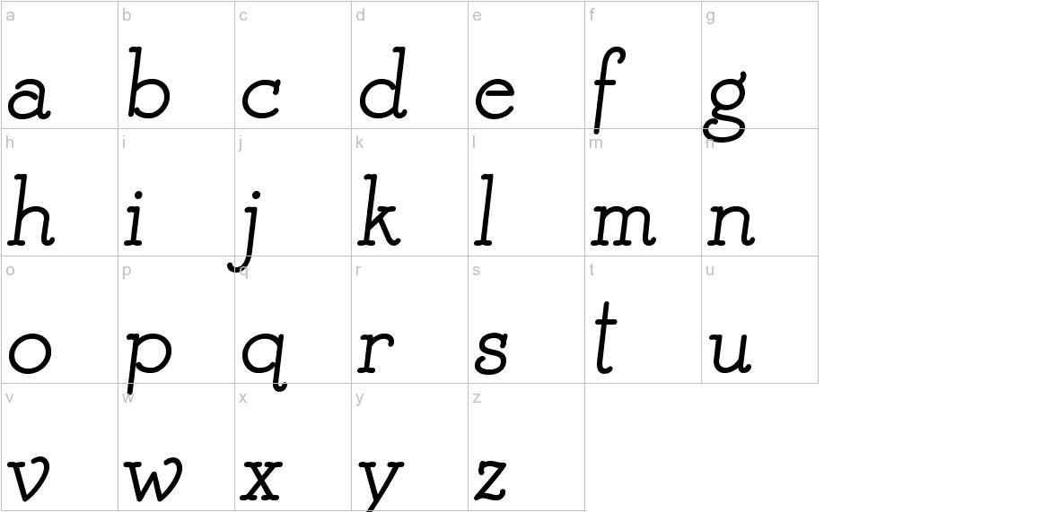 Mistress Script lowercase