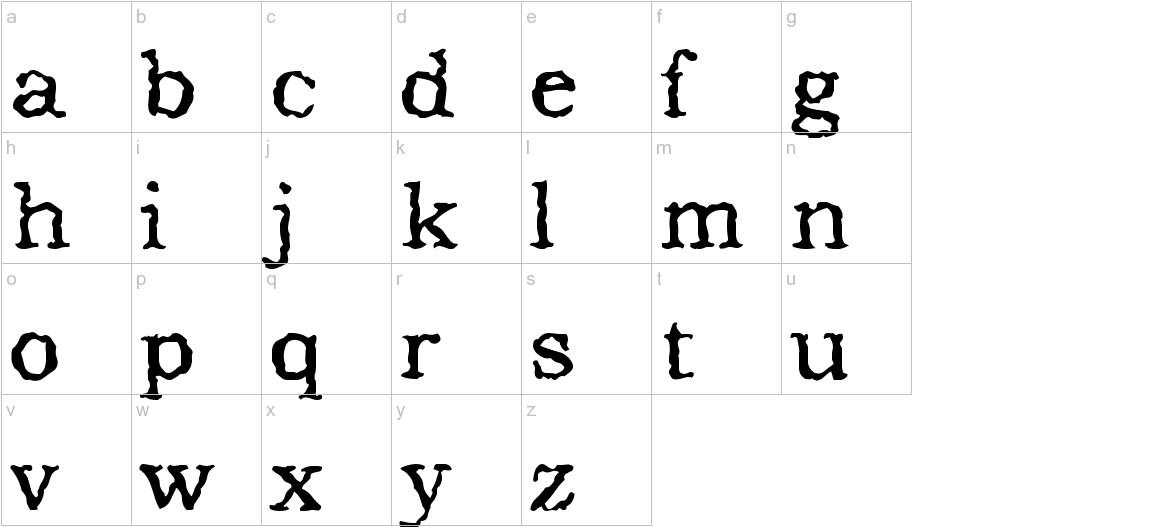 Addicted to Type lowercase