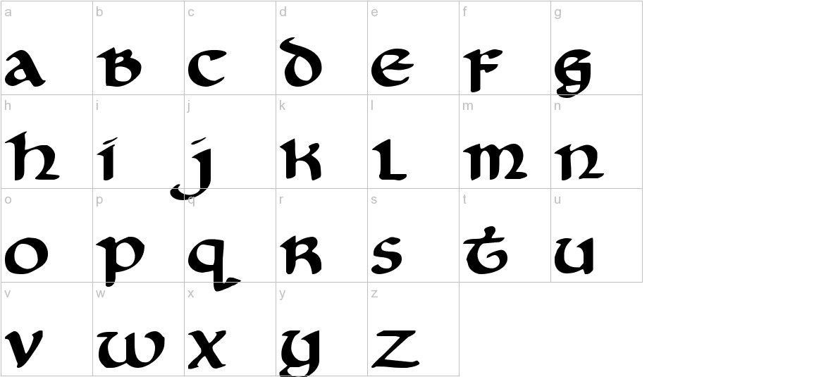 Cry Uncial lowercase