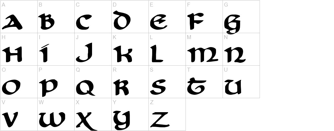 Cry Uncial uppercase