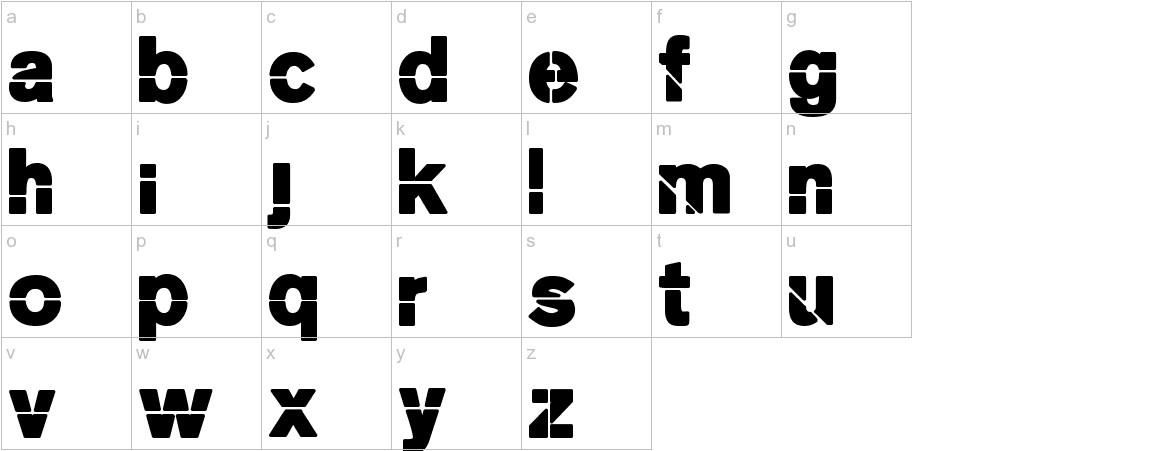 MKStencilsansBlack lowercase