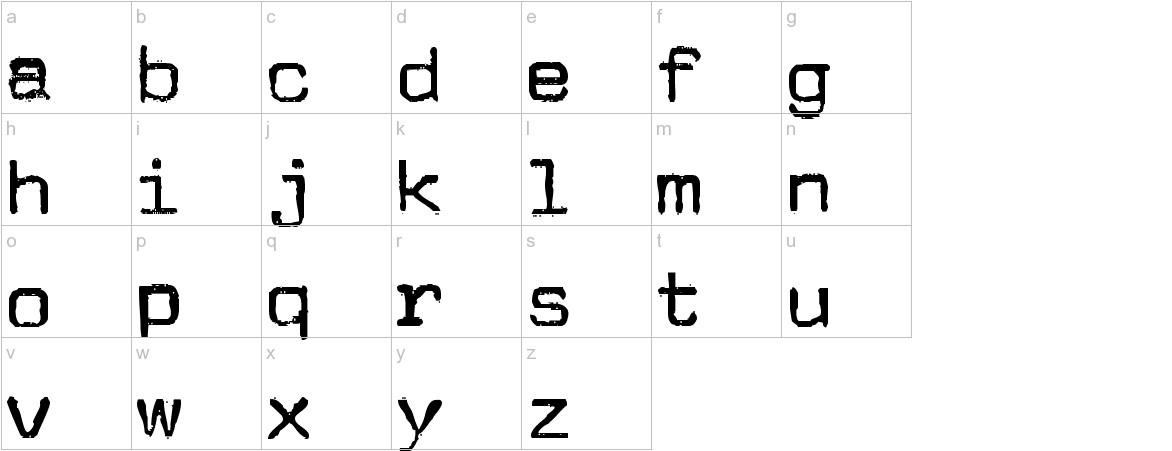JMLetter lowercase