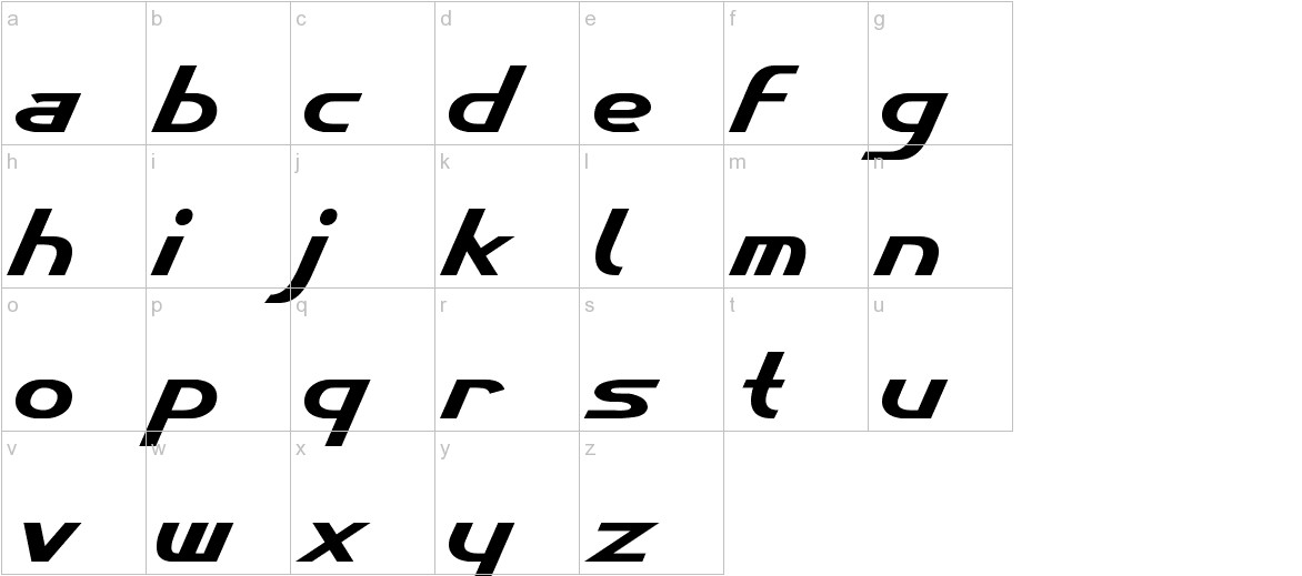 Cybertron Metals  Normal lowercase
