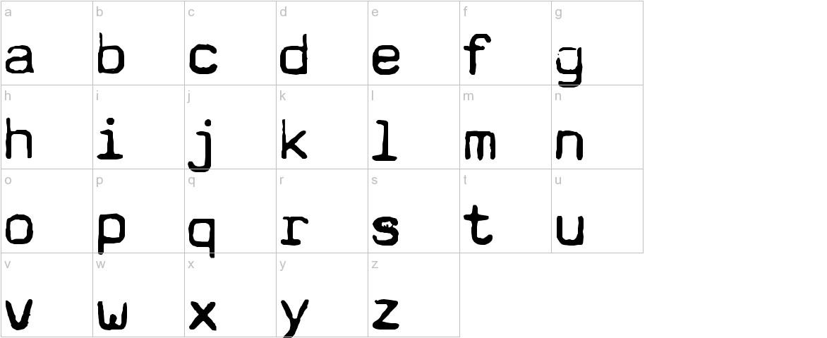Typewriter - a602 (dead postman 2004) lowercase