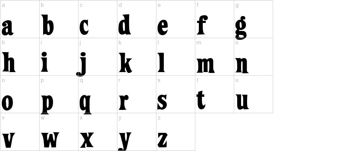 ZiggyStandard lowercase