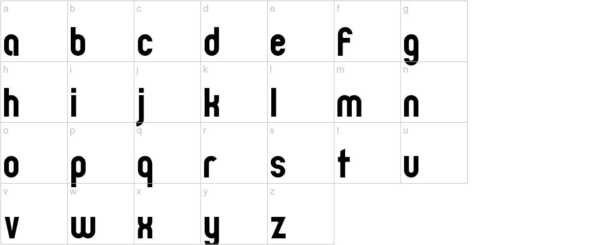 Zillah Modern lowercase