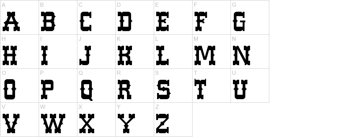 Western Normal uppercase