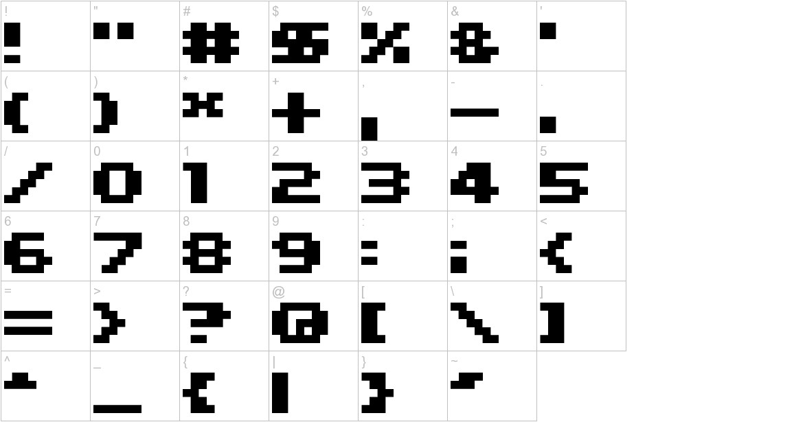 04b11 characters