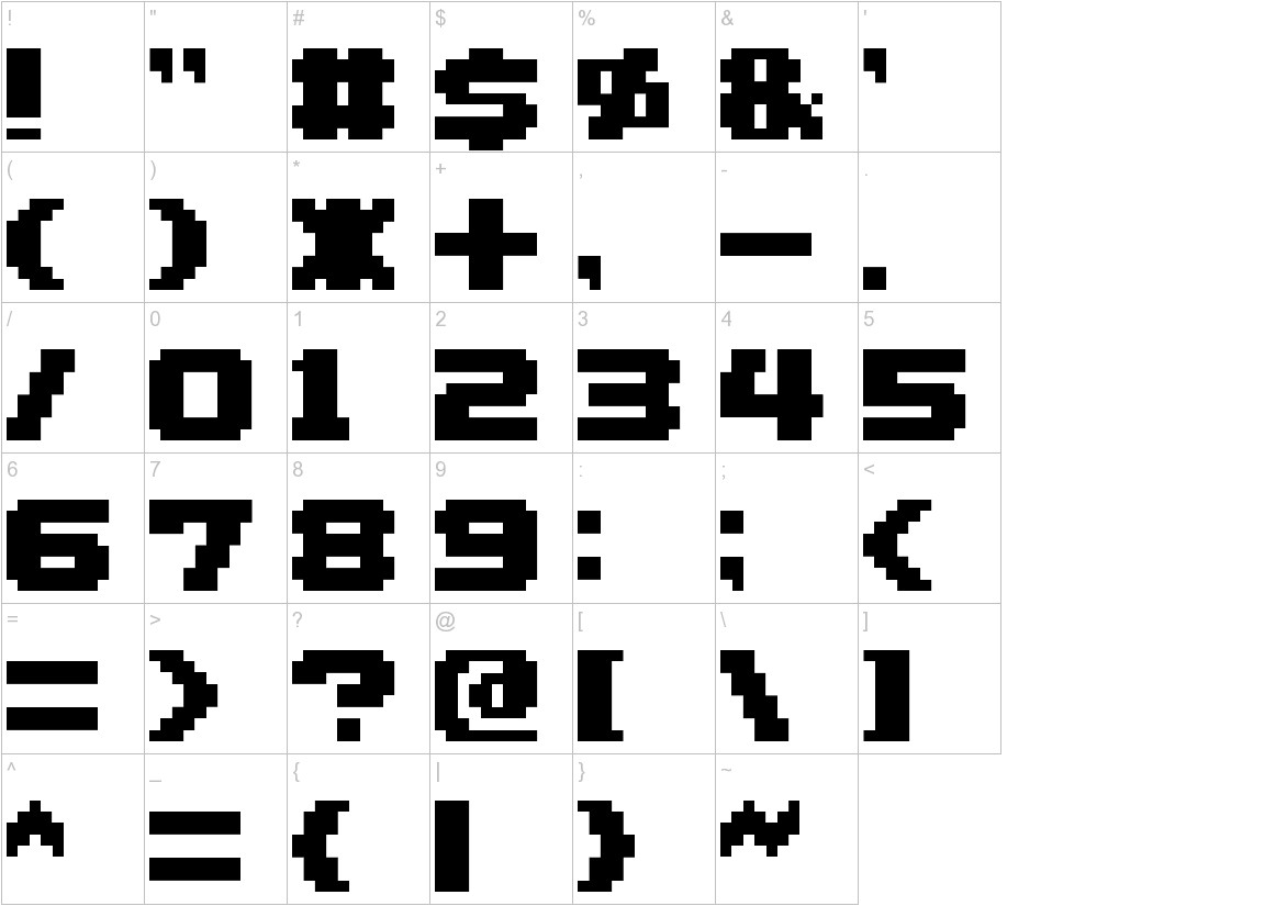 AddLGBitmap09 characters