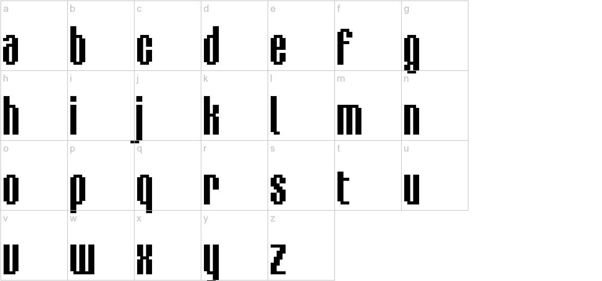 BM delico A16 lowercase