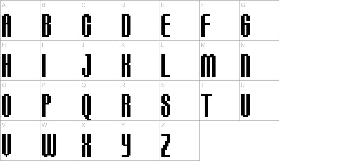 BM delico A16 uppercase