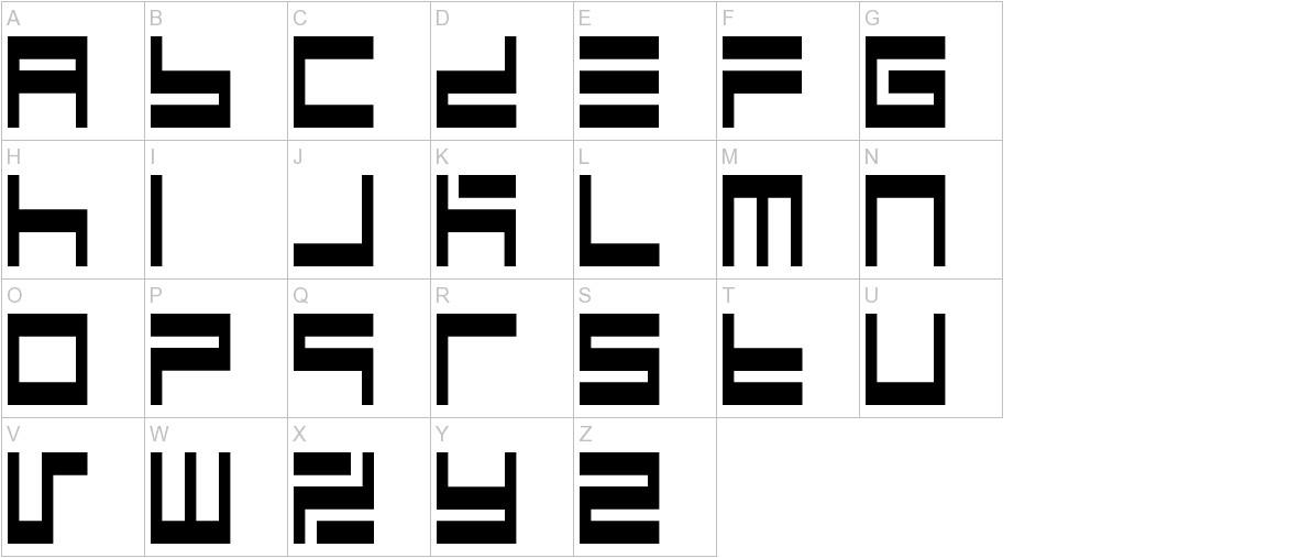 BM maze A9 uppercase