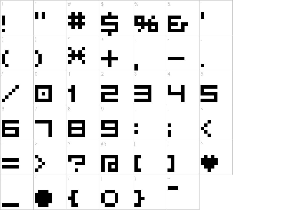 BM plain A7 characters