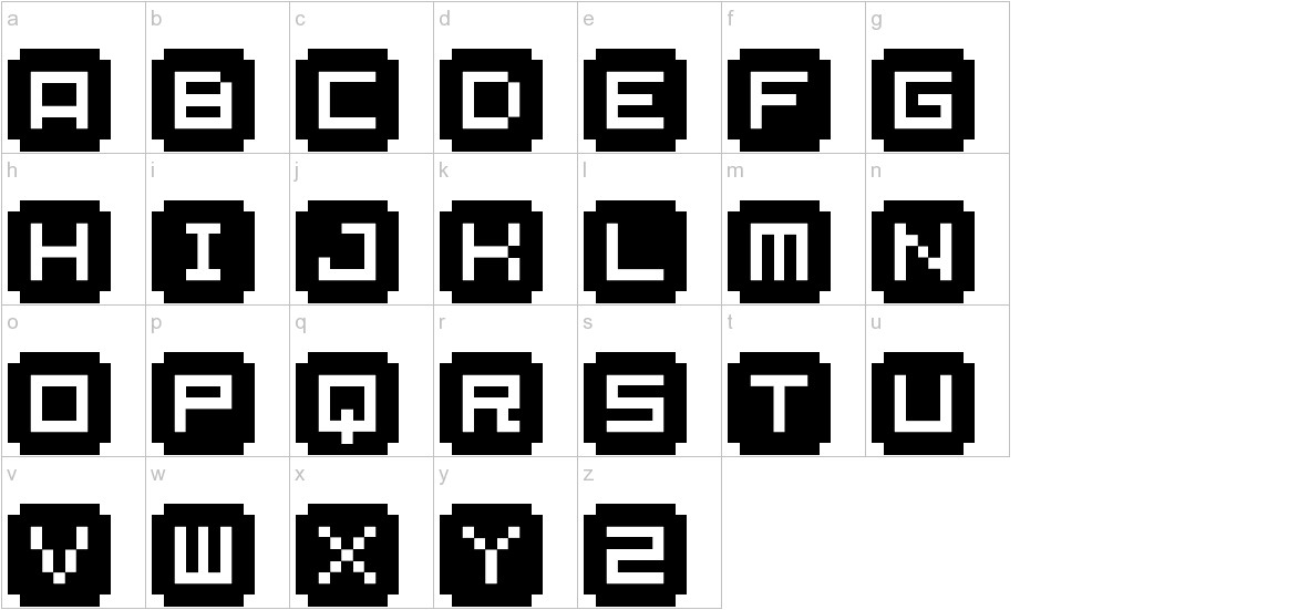 BM stamp A9 lowercase