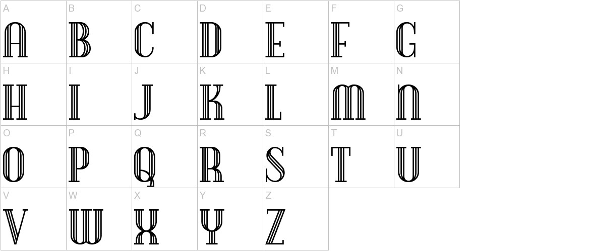 DebonairInline uppercase