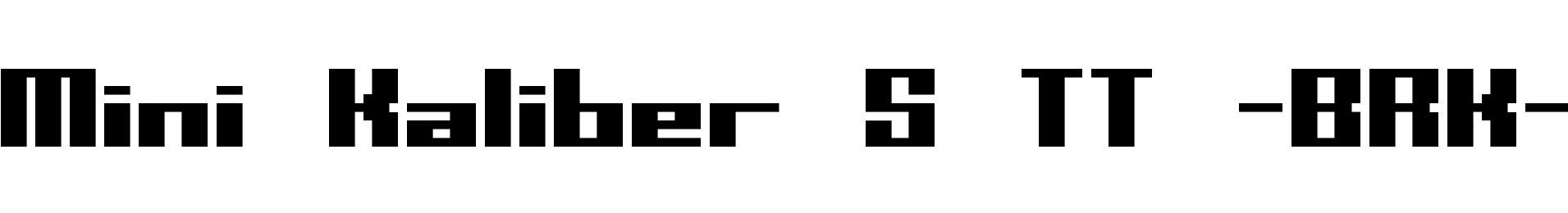 Mini Kaliber S TT -BRK-