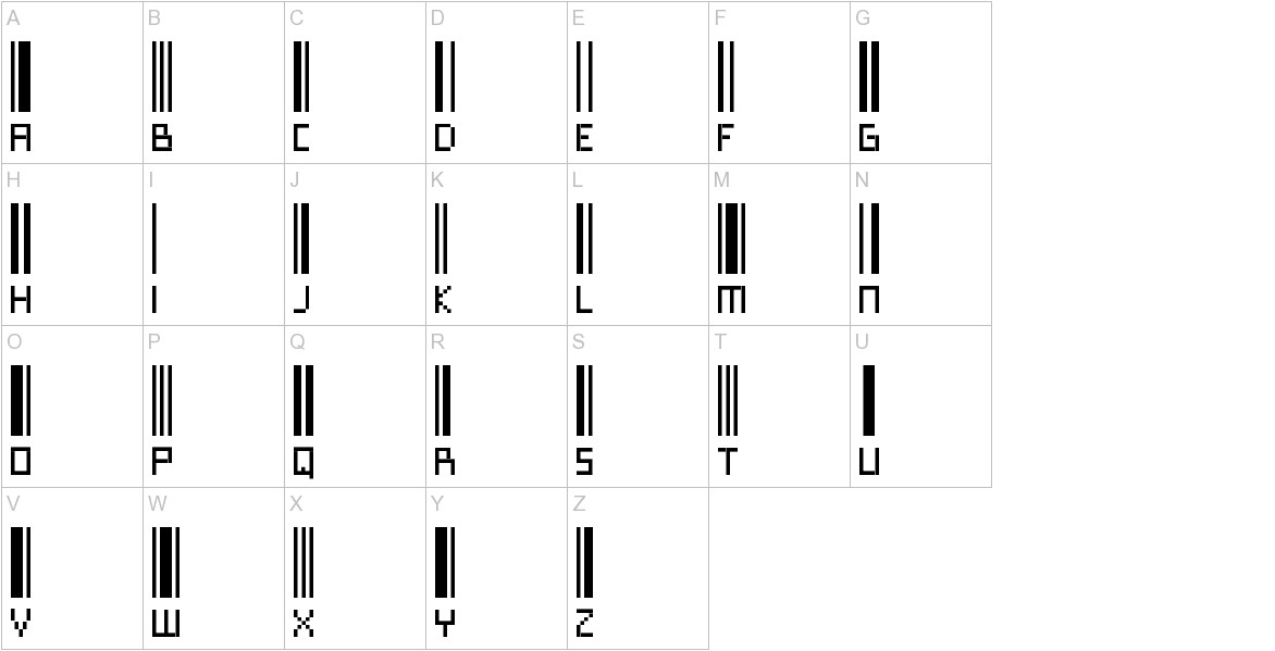 Paskowy uppercase