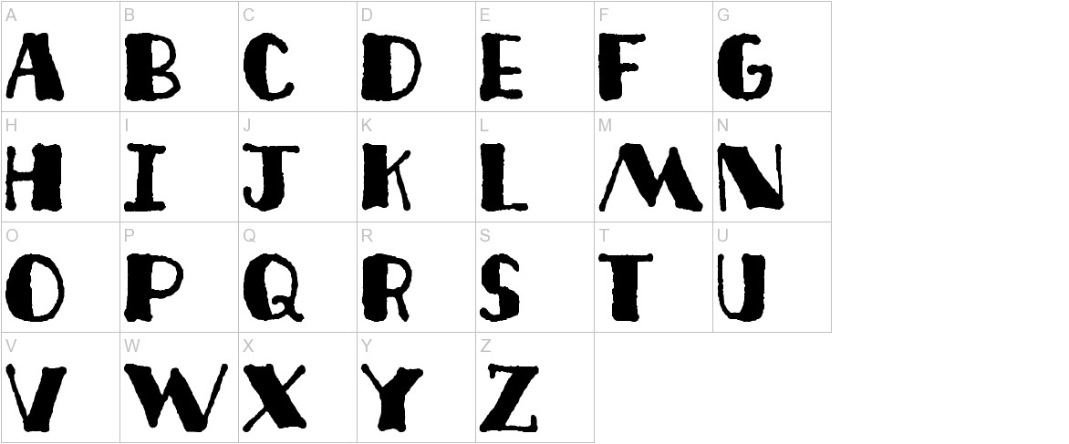 Deco Freehand uppercase