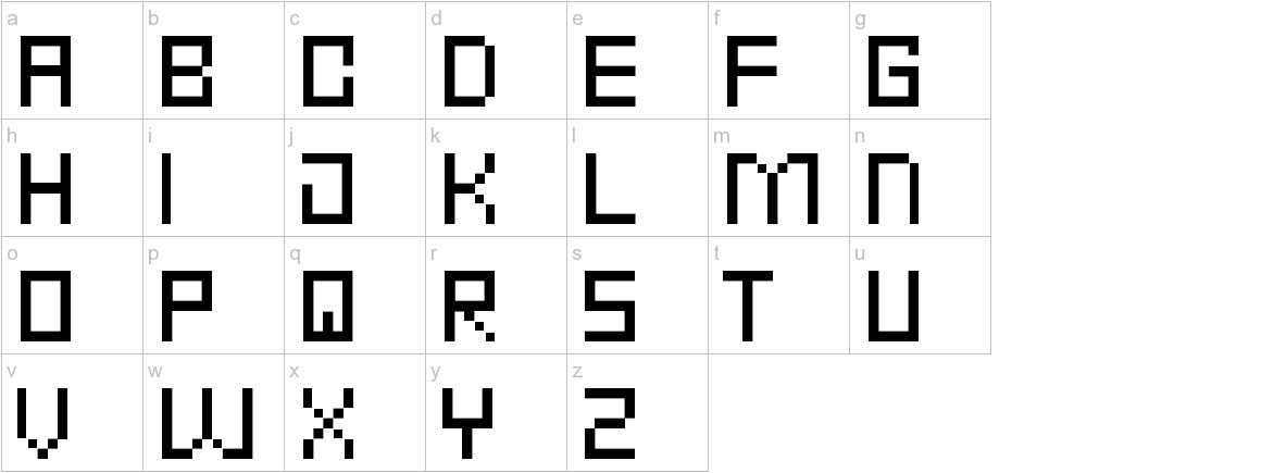Punk Rock Font Condensed Thin lowercase
