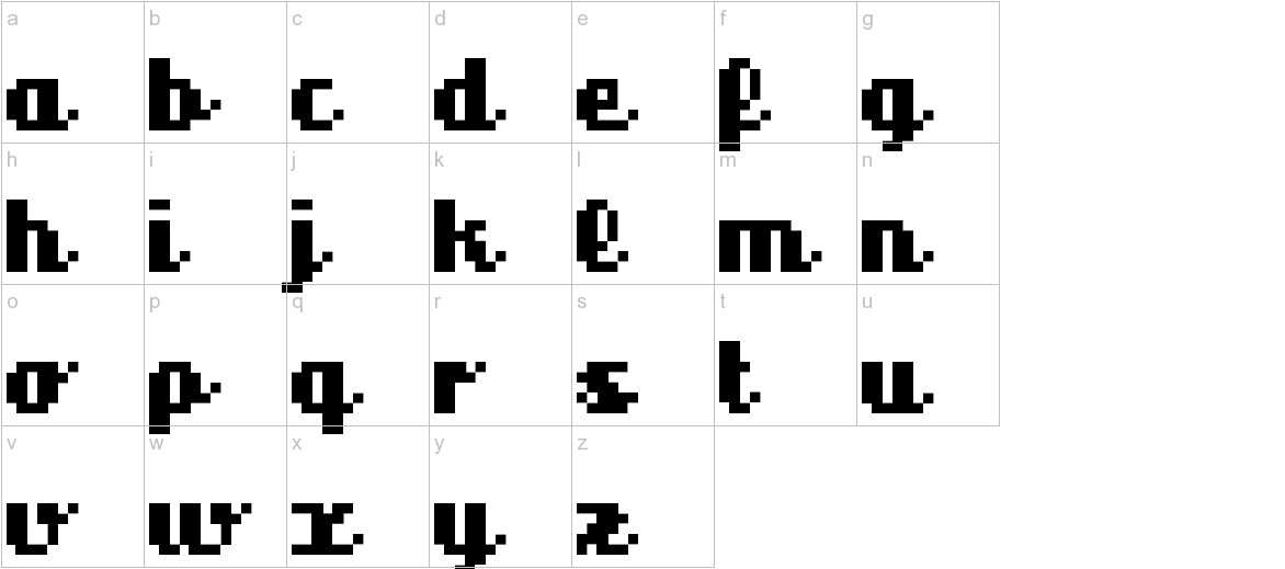 superscript lowercase