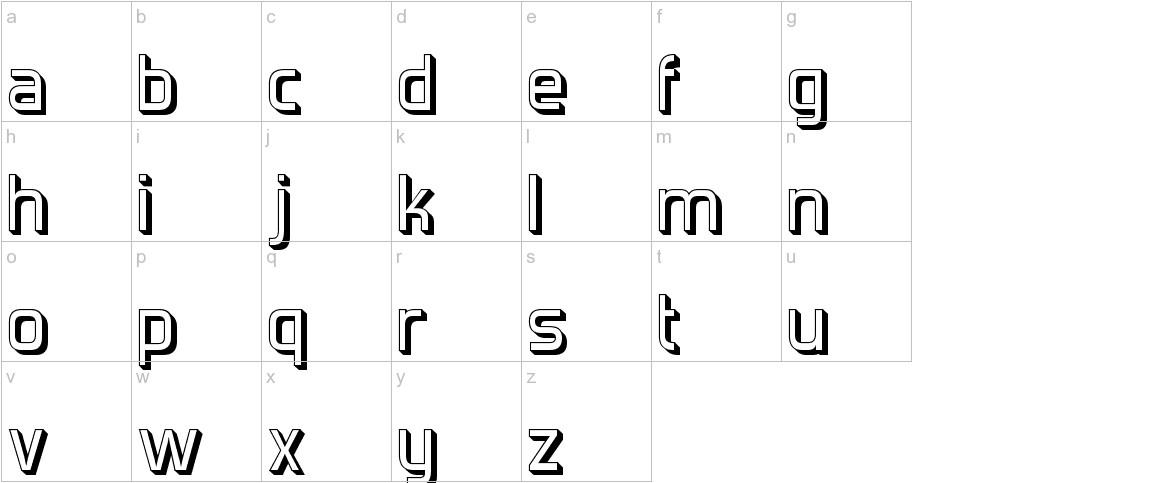 Forgotten Futurist Shadow lowercase