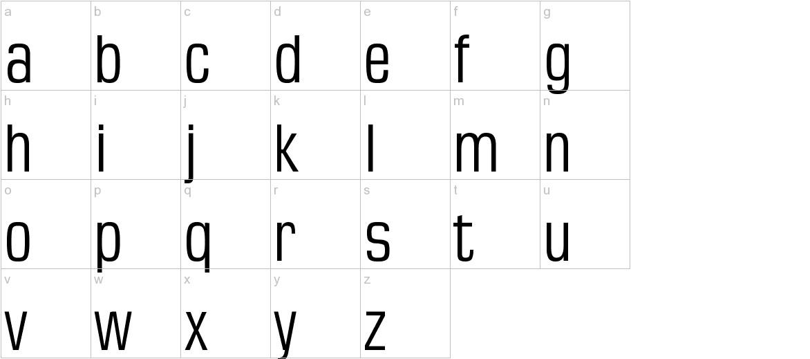 MKSansTallX lowercase