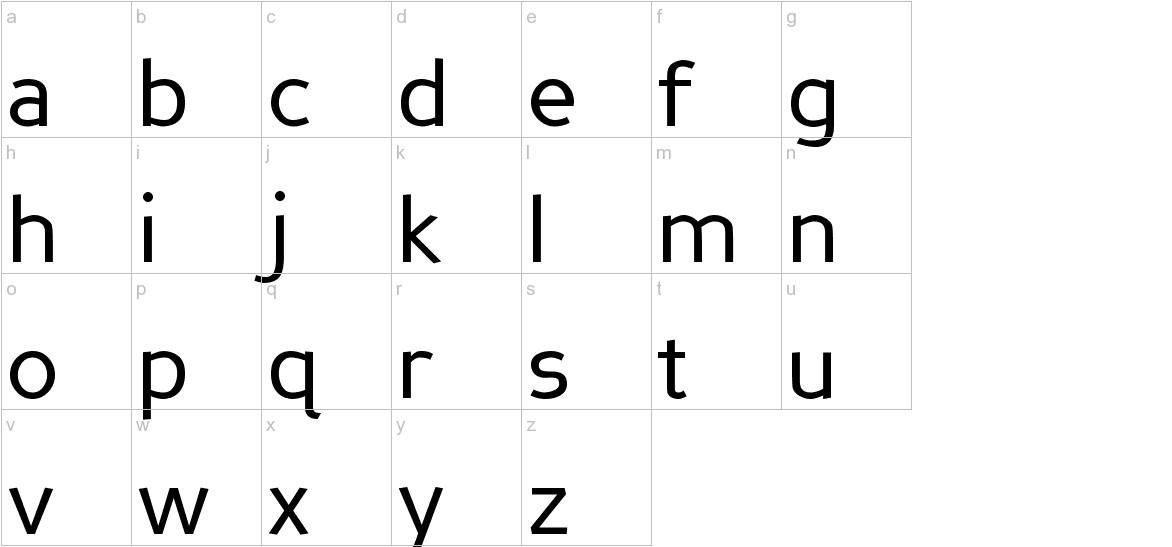 Perspective Sans lowercase