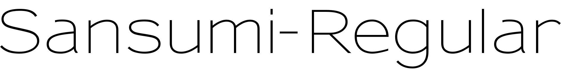 Sansumi-Regular