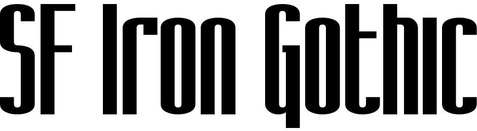 SF Iron Gothic