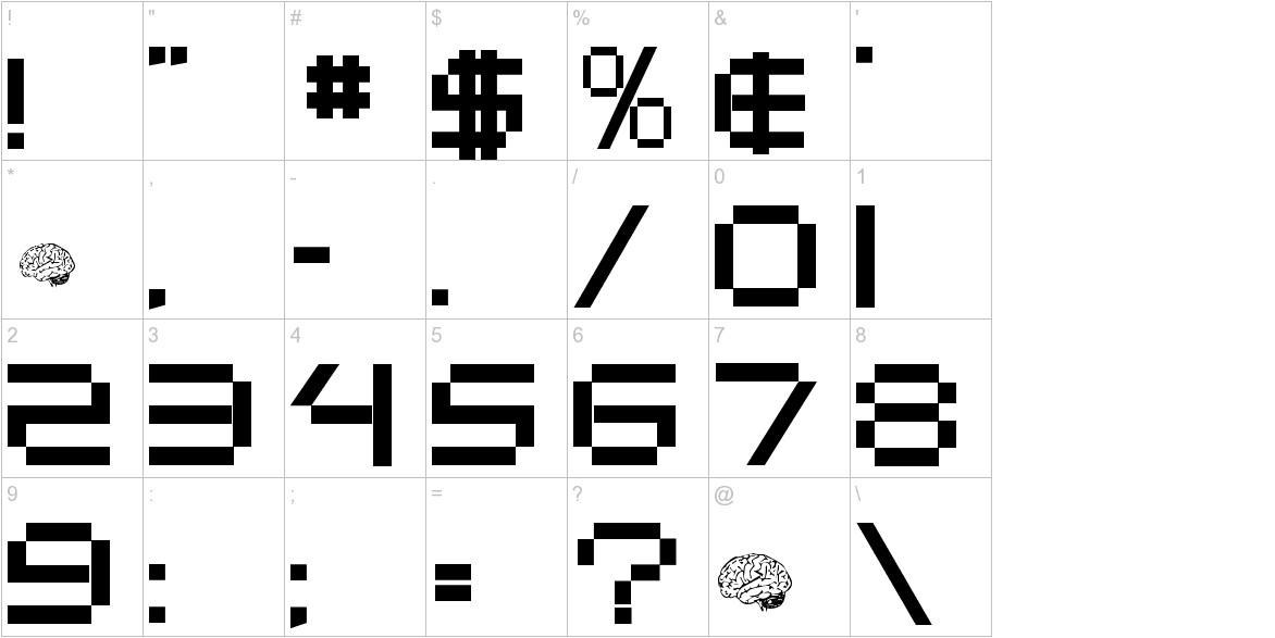 Digitalema characters