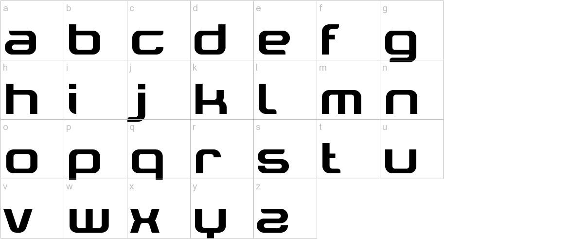 Tektrron lowercase