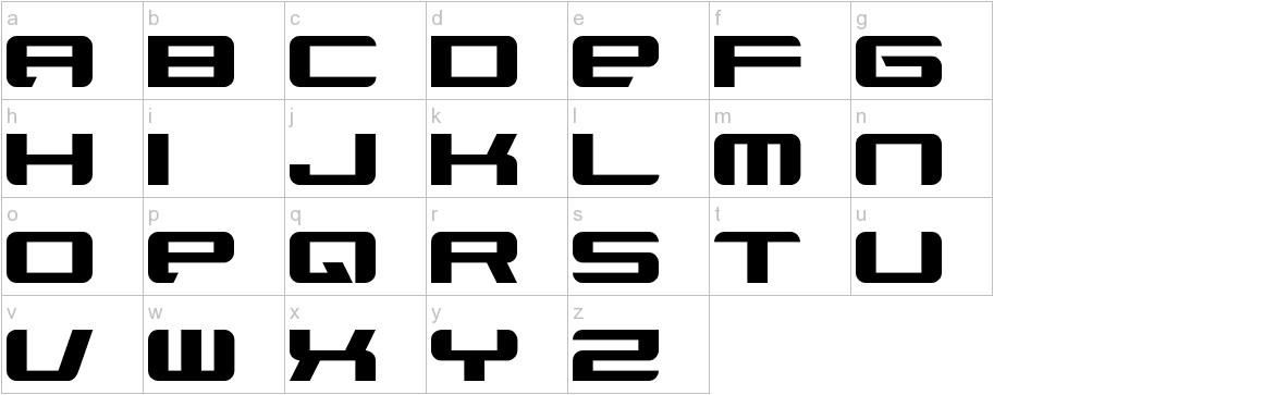 Xenotron Broadstroke lowercase