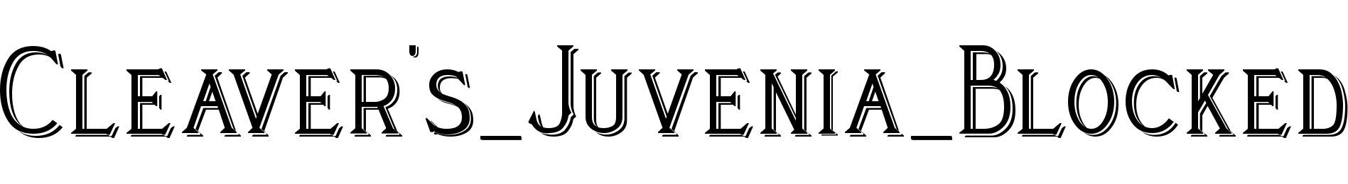 Cleaver's_Juvenia_Blocked