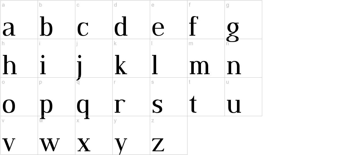 Dustismo Roman lowercase