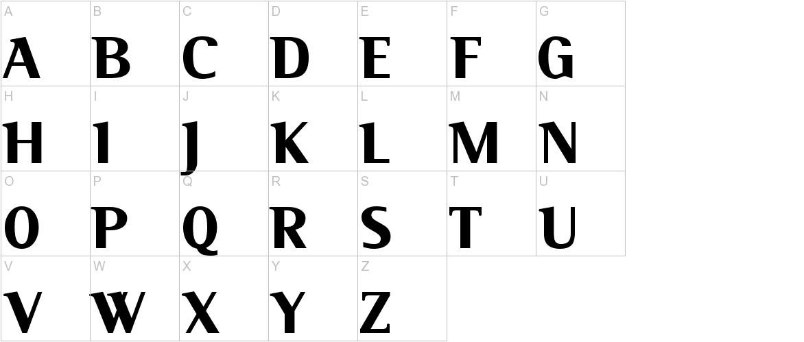 Serif Black uppercase